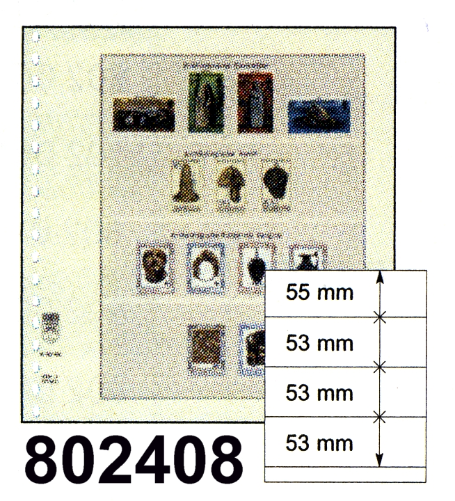 LINDNER-T-Blanko - Einzelblatt 802 408 0