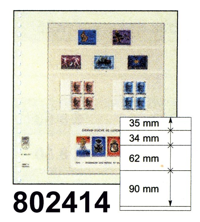 LINDNER-T-Blanko - Einzelblatt 802 414 0