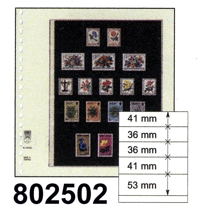 LINDNER-T-Blanko - Einzelblatt 802 502 0