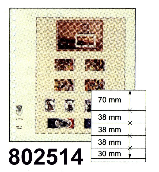 LINDNER-T-Blanko - Einzelblatt 802 514 0