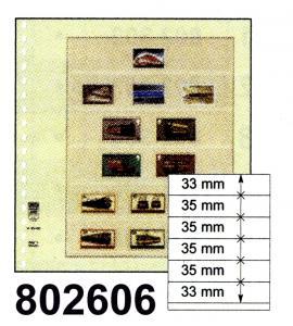 LINDNER-T-Blanko - Einzelblatt 802 606