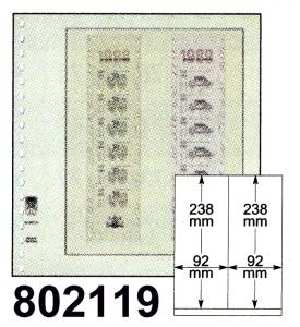 LINDNER-T-Blanko - Einzelblatt 802 119 für Rollenmarken