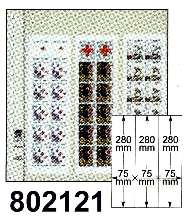 LINDNER-T-Blanko - Einzelblatt 802 121 für Rollenmarken 0