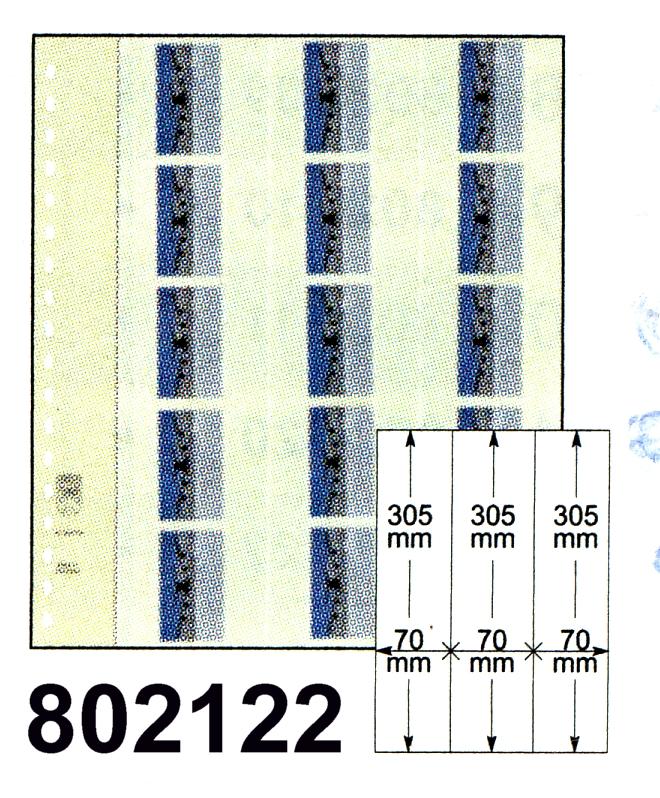LINDNER-T-Blanko - Einzelblatt 802 122 für Rollenmarken 0