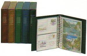 LINDNER Postkartenalbum mit 20 Hüllen + Kassette, GRÜN