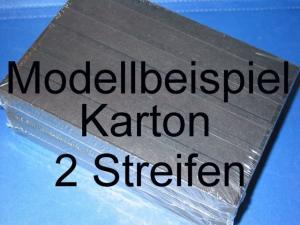 KOBRA Einsteckkarten A5, stabiler Karton, K02 - 2 Streifen