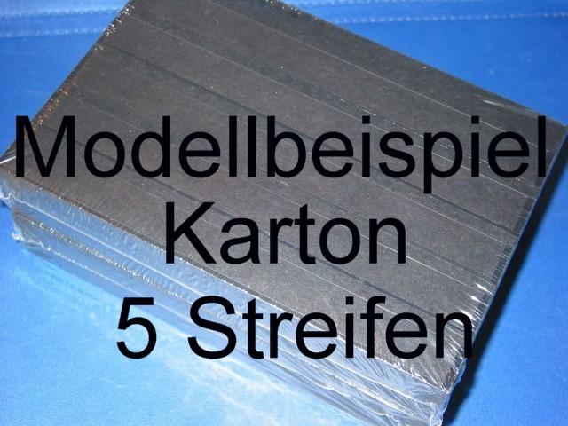KOBRA Einsteckkarten A5, stabiler, schwarzer Karton, K05 - 5 Streifen 0