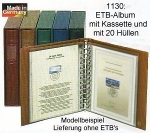 LINDNER ETB-Album mit Kassette und 20 Hüllen, braun