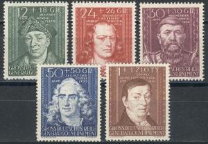 120-124 Kulturträger 1944, Satz komplett ** postfrisch