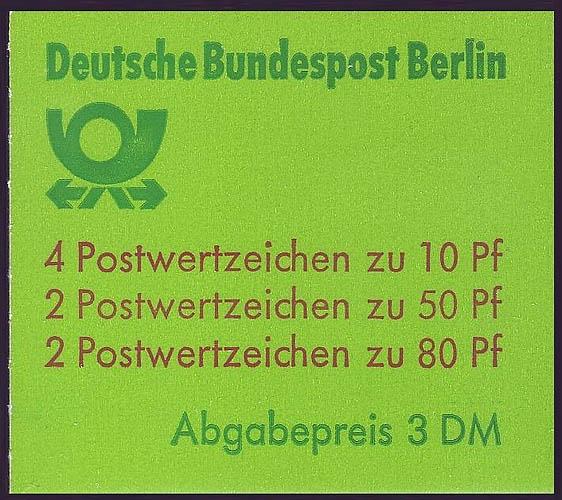 13b MH BuS 1982 (olive 80er) mIt PLF V ** postfrisch 1