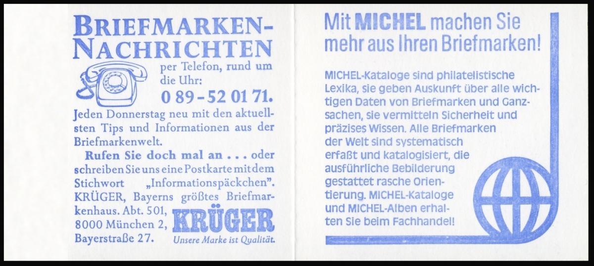 13b MH BuS 1982 (olive 80er) mIt PLF V ** postfrisch 2