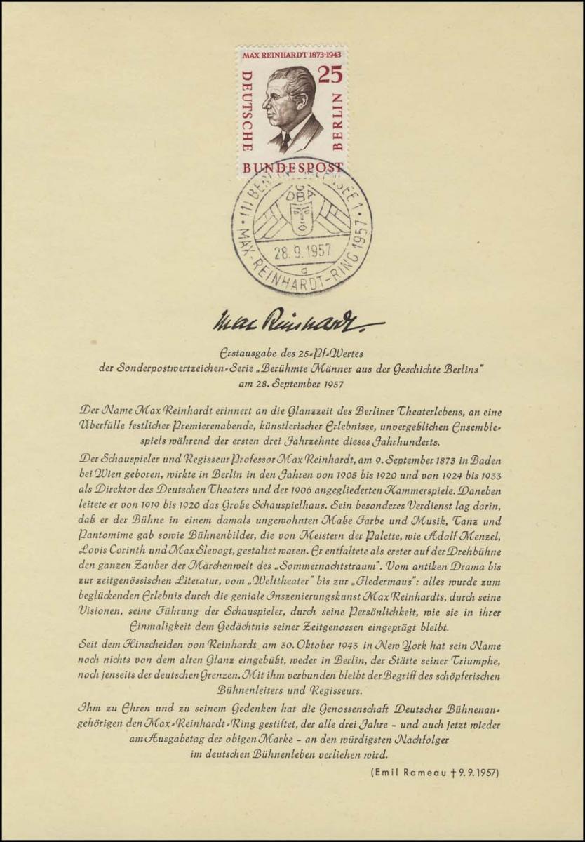 Berlin-ETB Nummer 27 Max Reinhardt, ESSt Buchstabe: d 0