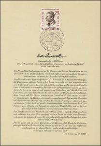 Berlin-ETB Nummer 27 Max Reinhardt, ESSt Buchstabe: d