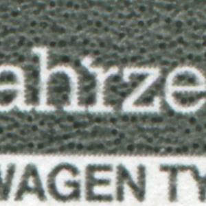 2417II Schienenfahrzeuge 35 Pf: weißer Fleck am r in -fahrzeuge, Feld 17 **