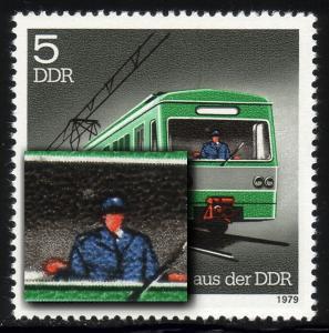 2414 Schienenfahrzeuge 5 Pf: Fleck neben dem Kopf, Feld 27 **