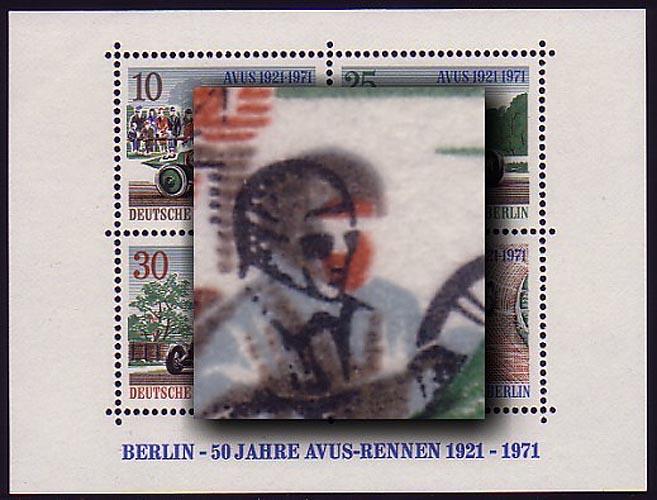 Block 3 AVUS-Rennen 1971, Passerverschiebung braun ** 0