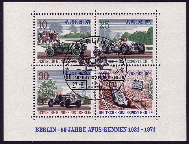 Block 3 AVUS-Rennen 1971 mit ESSt Berlin 27.8.1971 0