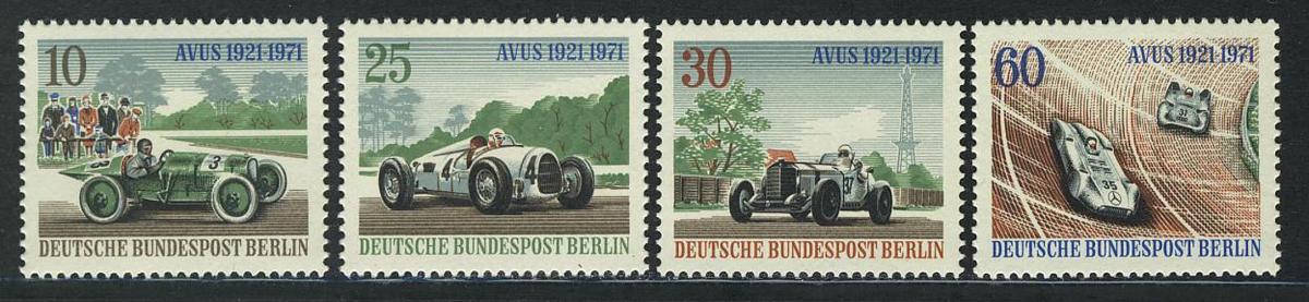 397-400 AVUS-Rennen 1971 aus Block 3, Satz postfrisch 0