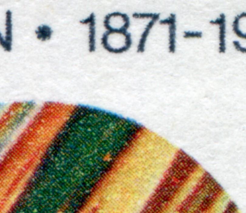 416 Materialprüfung mit PLF Rasterausfall im Grün unter der 8, Feld 50, ** 0