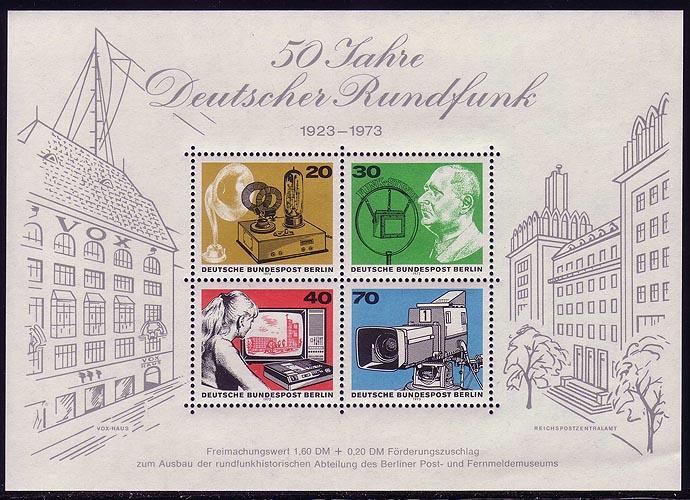 Block 4 Deutscher Rundfunk 1973, postfrisch 0