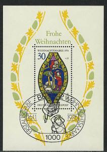 Block 5 Weihnachten - Marienfenster 1976, ESSt Berlin 16.11.1976