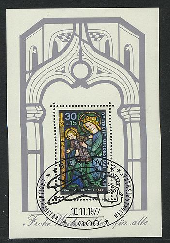 Block 6 Weihnachten - Glasfenster 1977, ESSt Berlin 10.11.1977 0