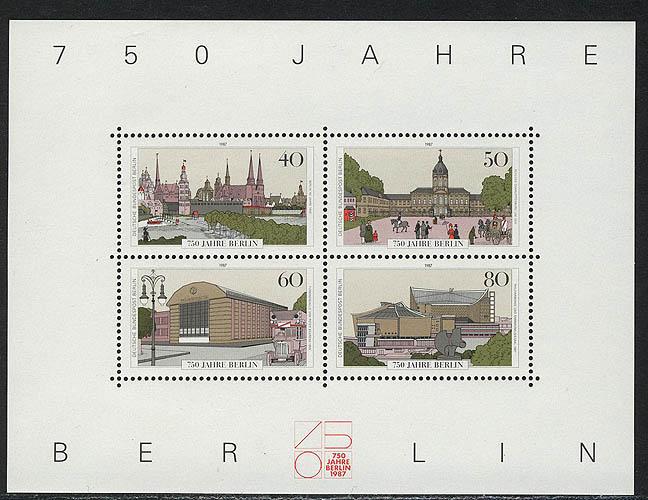 Block 8 Jubiläum 750 Jahre Berlin 1987, postfrisch 0