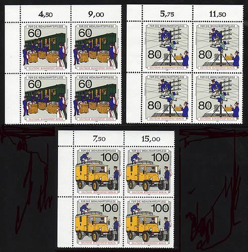 876-78 Wofa Post 1990, E-Vbl o.l. Satz ** 0
