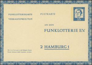 Funklotterie FP 7 Luther 15 Pf **