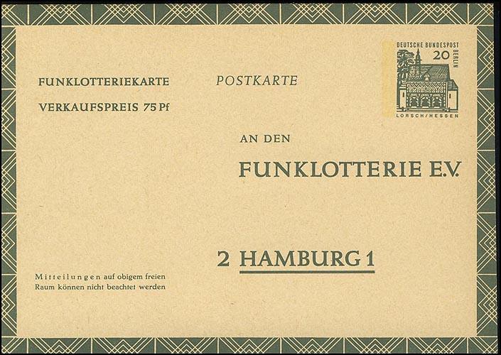 Funklotterie FP 8 Lorsch/Hessen 20 Pf ** 0