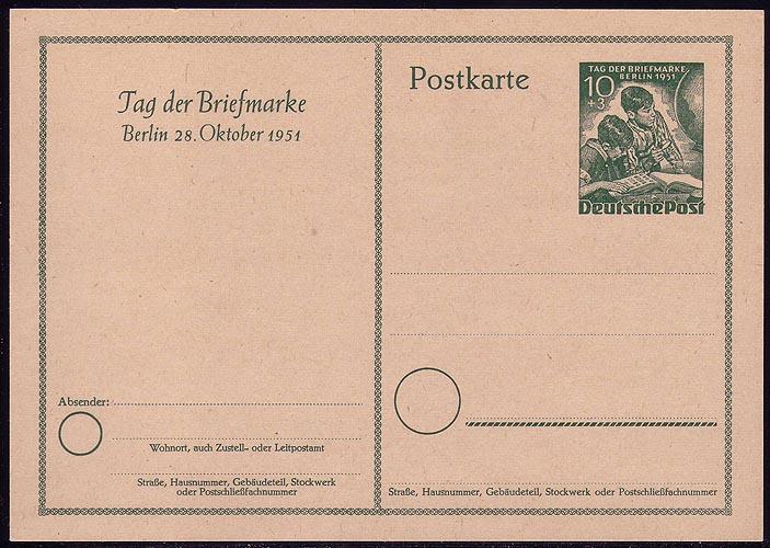 P 27 - Tag der Briefmarke 1951 ** 0