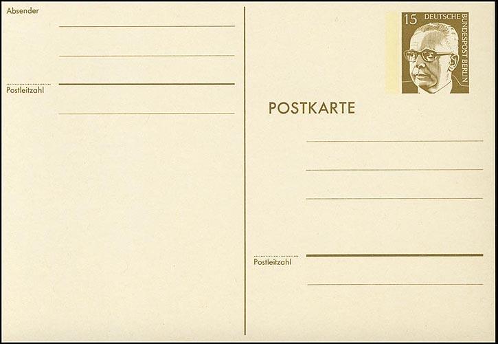 P 90a - Heinemann 15 Pf, Karton rahmfarben ** 0