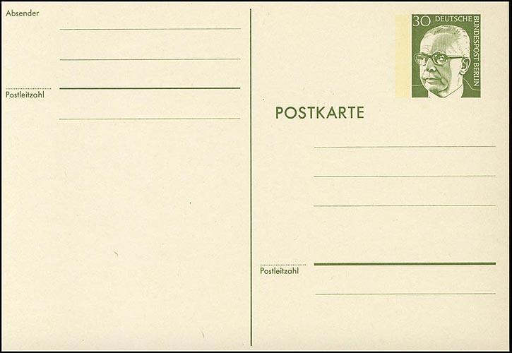 P 91a - Heinemann 30 Pf, Karton rahmfarben ** 0