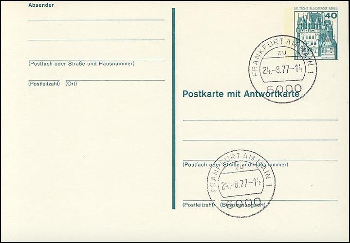 P 107 - BuS 40/40 Pf mit Strichlinien VS-O Frankfurt / Main 0