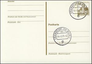P 108 - BuS 30 Pf mit Strichlinien, VS-O Frankfurt PLZ 6