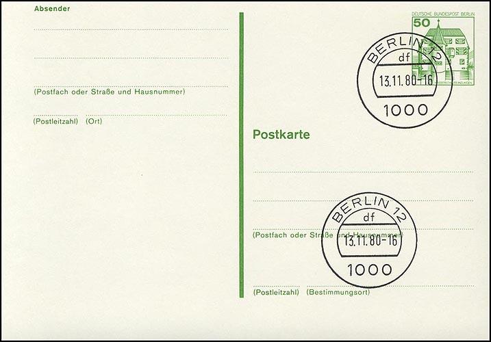 P 116 - BuS 50 Pf mit Punktlinien VS-O Berlin 0