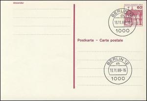 P 117 - BuS 60 Pf mit Punktlinien, ohne Leitvermerke, VS-O Berlin