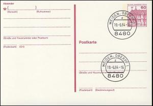 P 122 II - BuS 60 Pf Letterset VS-O Weiden
