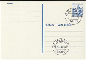 P 123 I - BuS 70 Pf Buchdruck VS-O Weiden