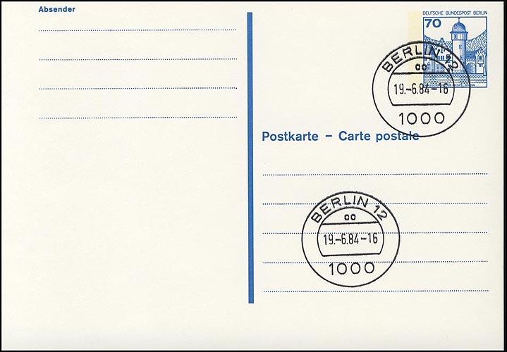 P 123 II - BuS 70 Pf Letterset VS-O Berlin 12 0