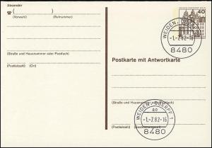 P 124 I - BuS 40/40 Pf Buchdruck VS-O Weiden