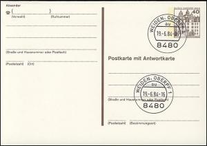 P 124 II - BuS 40/40 Pf Letterset  VS-O Weiden