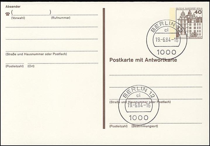 P 124 II - BuS 40/40 Pf Letterset  VS-O Berlin 0