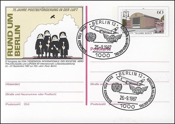 P 127 - LUPOSTA 1987 SSt Berlin FISA-Kongreß 26.9.87 0