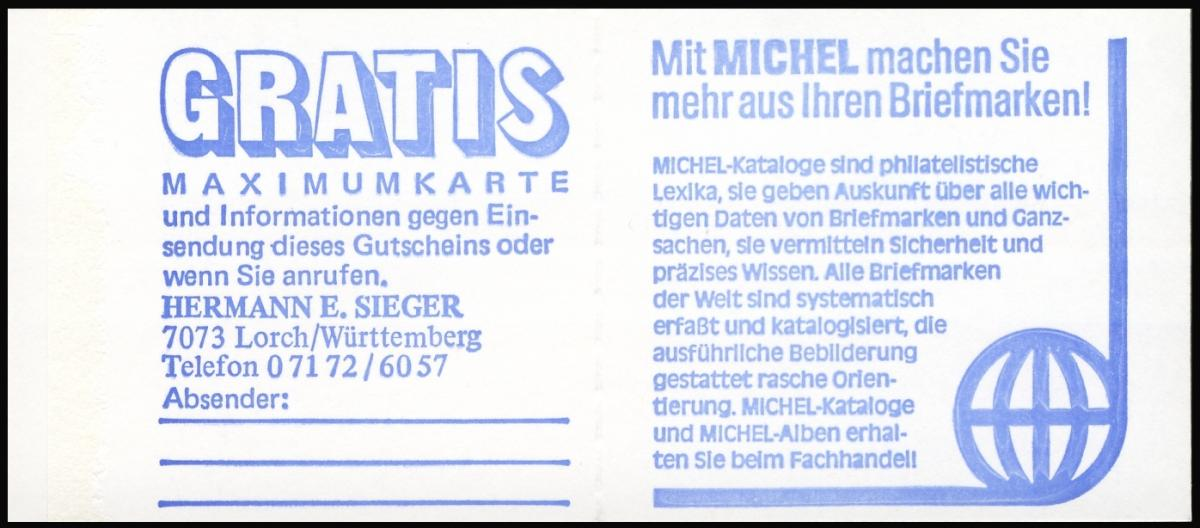13a MH BuS 1982 [olive 80er], PLF I ** postfrisch 2