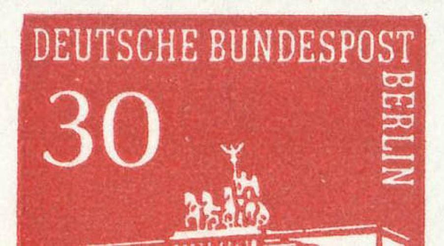 HBl. 15 aus MH 7 Brandenburger Tor mit PLF I (288III), Feld 2, ** 0