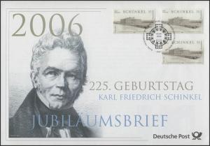 2527 Karl Friedrich Schinkel 2006 - Jubiläumsbrief
