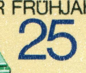 2209 Messe Leipzig 20 Pf mit PLF Kerbe in der 2, Feld 12, **