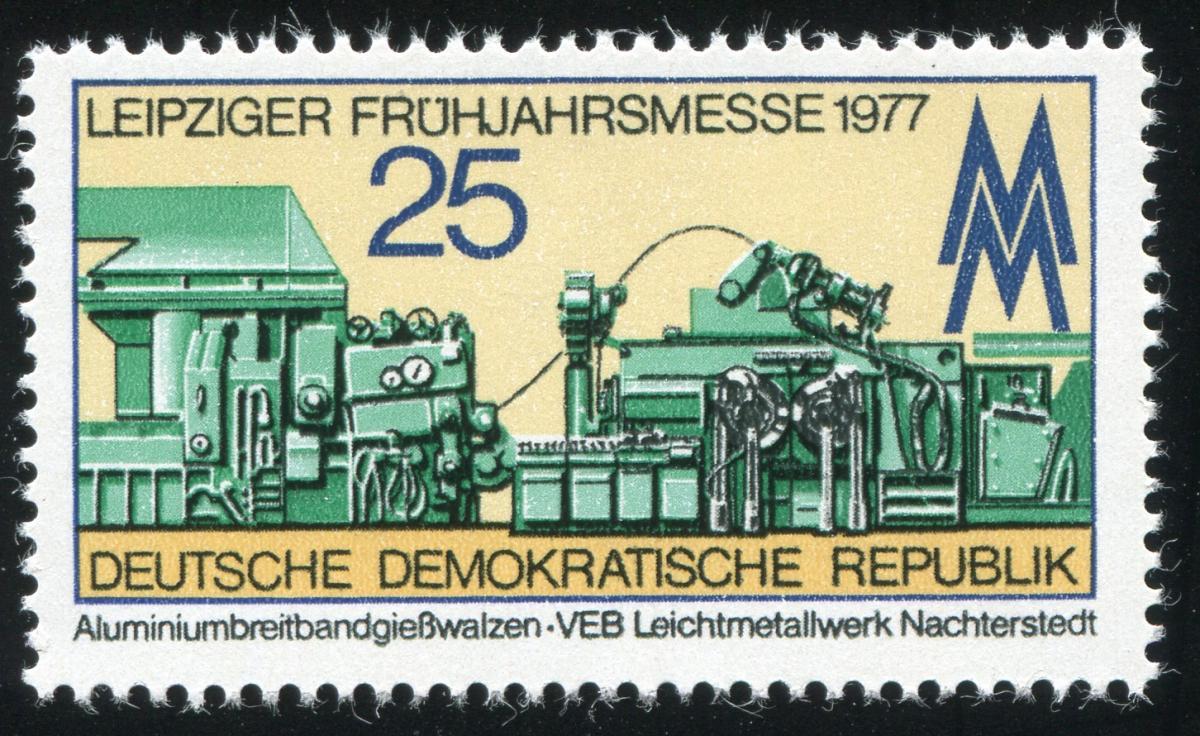 2209 Messe Leipzig 20 Pf mit PLF Kerbe in der 2, Feld 12, ** 1