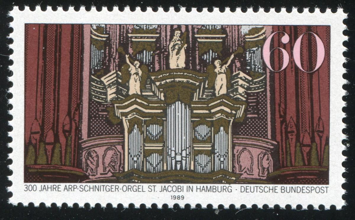 1441 Orgel mit PLF Punkt über dem G, aber ohne PLF III, Feld 2 ** 1
